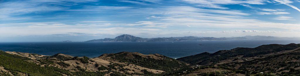 Panorámica del estrecho de Gibraltar